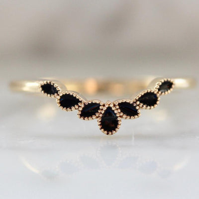 Emily Gill Ring Rivera Black Enamel Stacking Ring