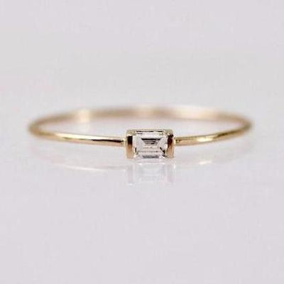 Foe And Dear Ring Foe and Dear Baby Baguette Diamond Stackers