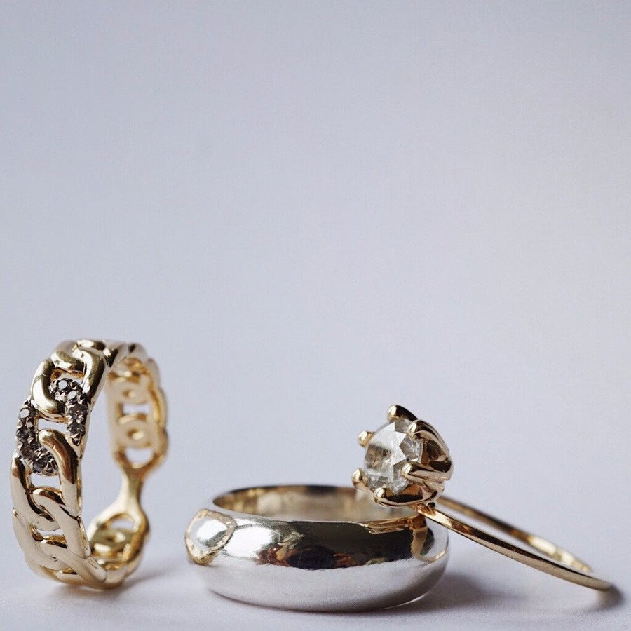 Foe And Dear Ring Foe & Dear Salt And Pepper Dream Stack