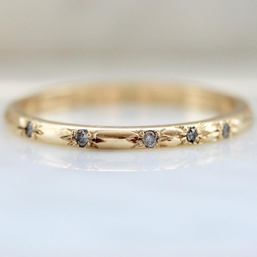 Foe And Dear Ring Galaxy Diamond Gold Ring