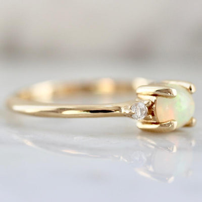 Foe And Dear Ring Opal And Diamond Ring