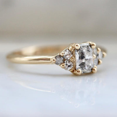 Foe And Dear Ring Starstruck Galaxy Radiant Cut Diamond Ring