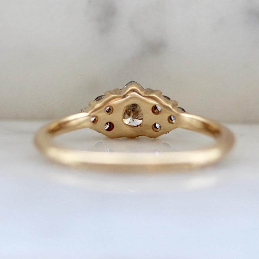 Foe And Dear Ring Wanderlust Galaxy Pear Cut Diamond Ring