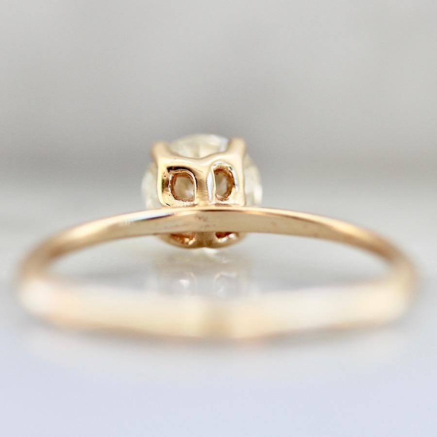 Gem Breakfast Bespoke Ring Bella Old European Cut Diamond Ring in Peach Gold