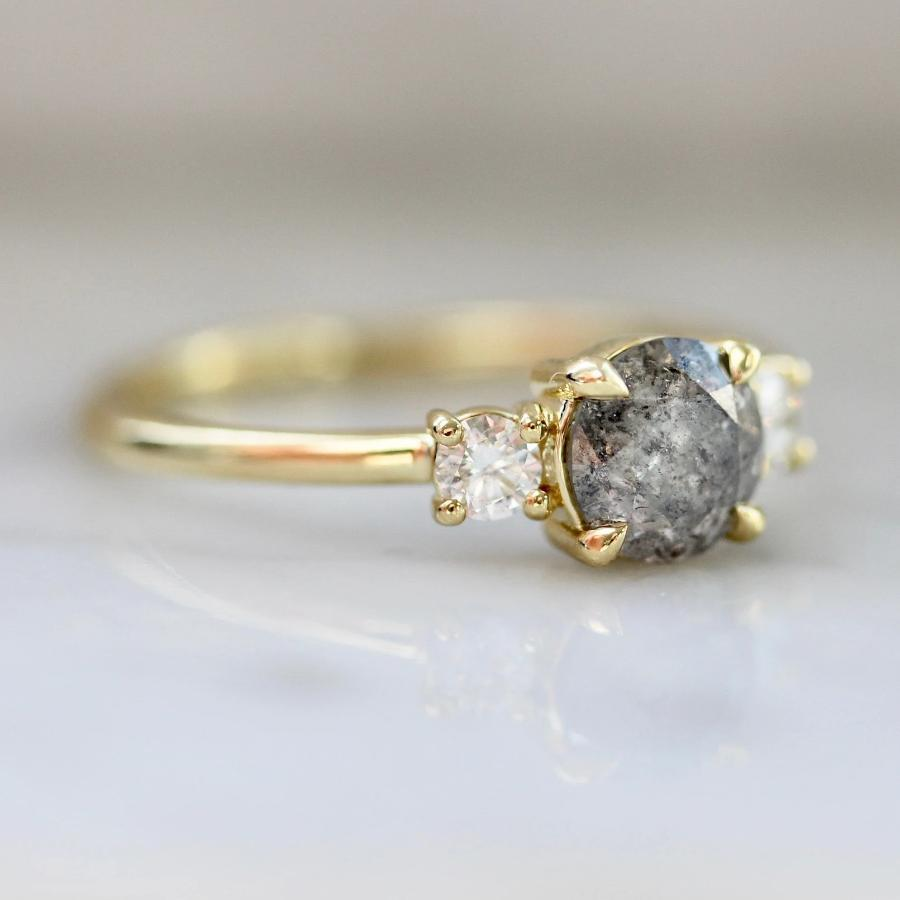 Gem Breakfast Bespoke Ring Brixton Salt & Pepper Diamond Ring in Yellow Gold