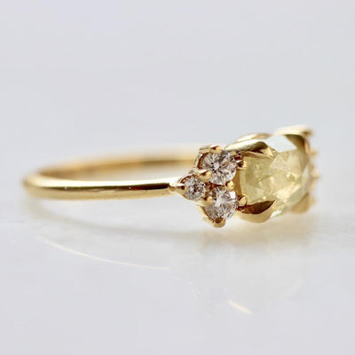 Gem Breakfast Bespoke Ring Coco Cabana Yellow Diamond Ring