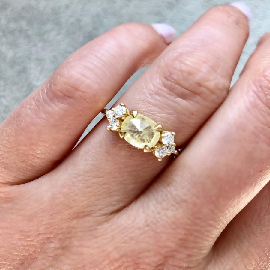 Coco Cabana Yellow Rose Cut Diamond Ring - Gem Breakfast
