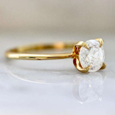 Gem Breakfast Bespoke Ring Current Ring Size 6.5 Ice Stella Diamond Ring In Yellow Gold