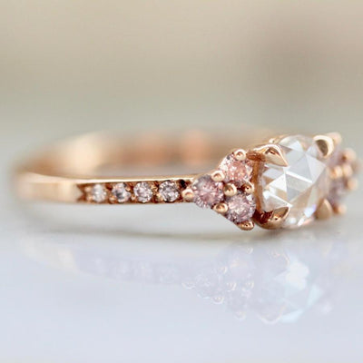 Gem Breakfast Bespoke Ring Current Ring Size - 6.5 Pink Spritz Rose Cut Diamond Ring
