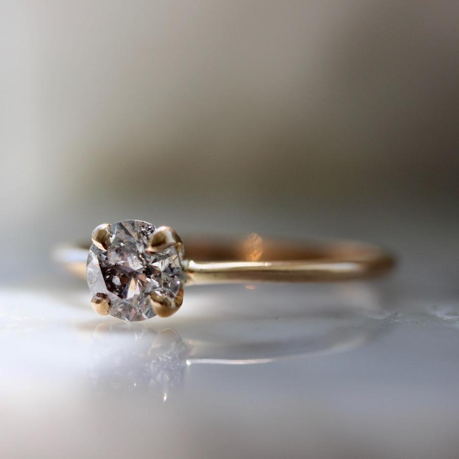 Gem Breakfast Bespoke Ring Salt & Pepper Stella Diamond Ring in Rose Gold
