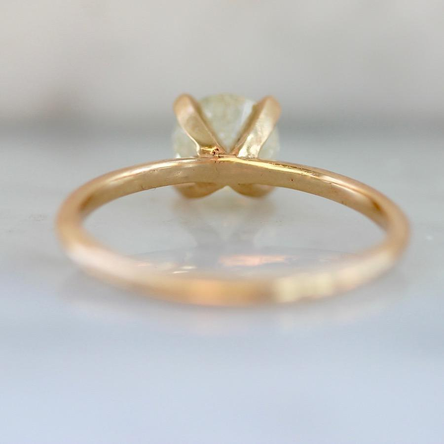 Gem Breakfast Bespoke Ring Stella Ice Diamond In Peach Gold