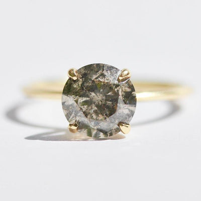 Gem Breakfast Bespoke Ring Stella Salt and Pepper Diamond Ring