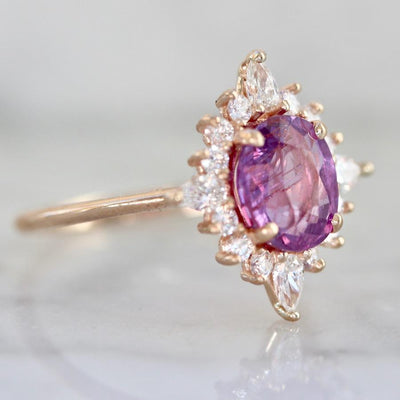 Gem Breakfast Bespoke Ring Sweet Thing Pink Sapphire Asteri Ring