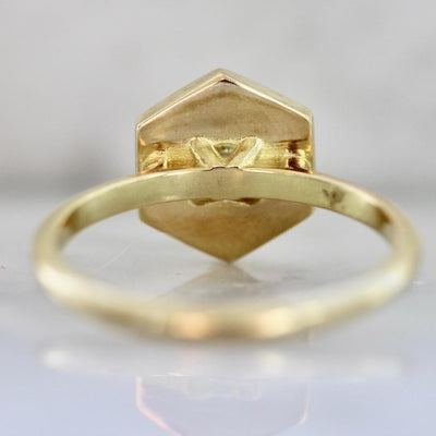 Gem Breakfast Bespoke Ring Yoko Yellow Diamond Hexagon Ring