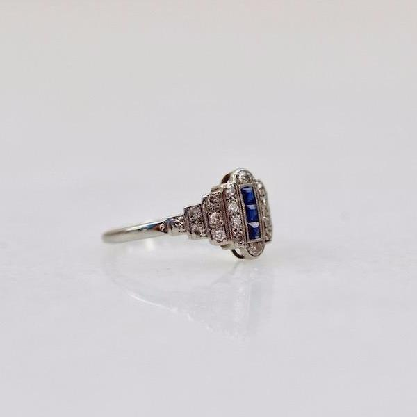 Gem Breakfast Vintage Ring Daisy Sapphire And Diamond Ring
