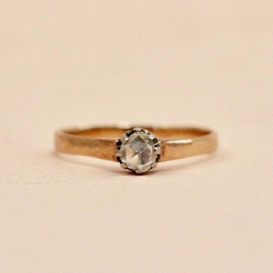 Gem Breakfast Vintage Ring Double Dutch Rose Cut Diamond Ring