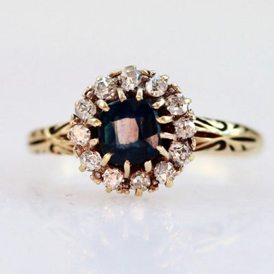 Gem Breakfast Vintage Ring Emma Sapphire and Diamond Ring