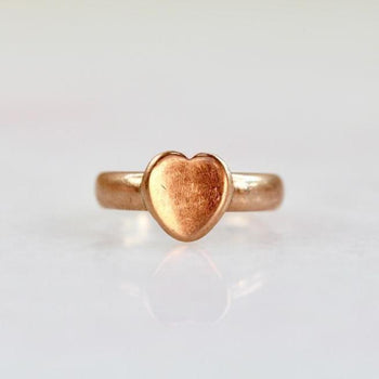 Gem Breakfast Vintage Ring Sweetheart Rose Gold Ring