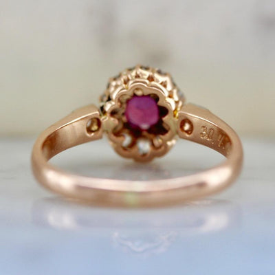 Gem Breakfast Vintage Vintage Ring Paradise Burmese Ruby And Diamond Ring