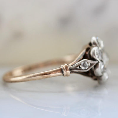 Gem Breakfast Vintage Vintage Ring Wonderland Rose Cut Diamond Ring