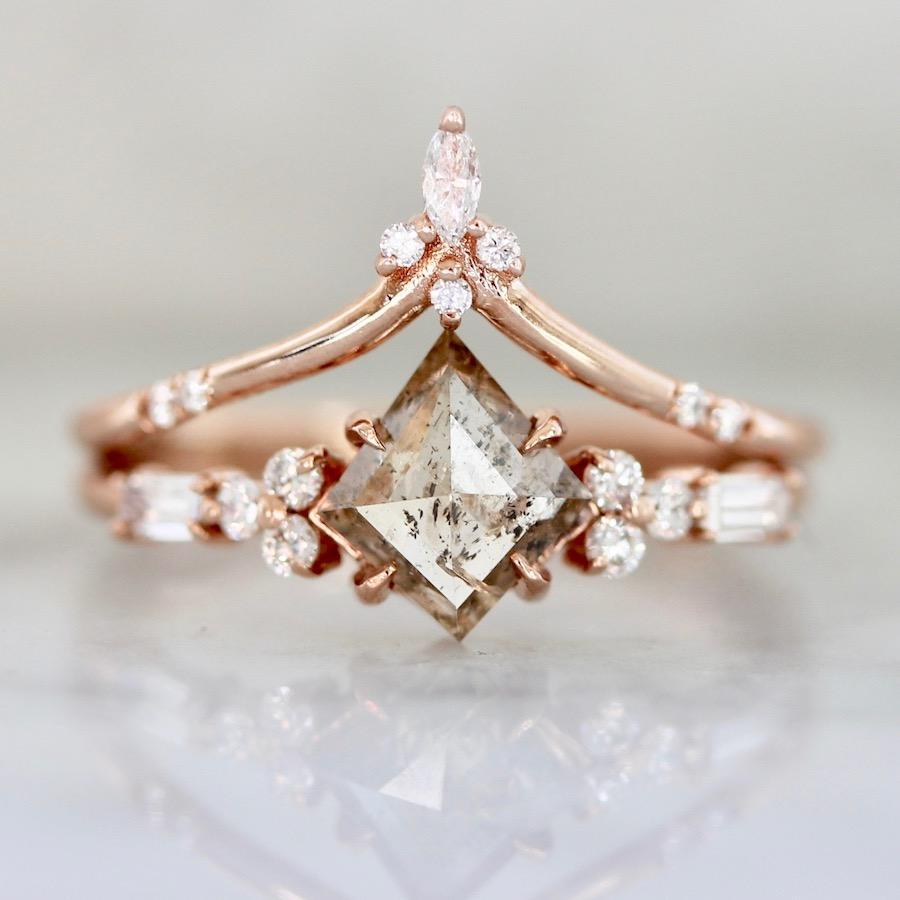 Hidden Space Jewelry Ring Turn It On Marquise Cut Tiara Band In Rose Gold