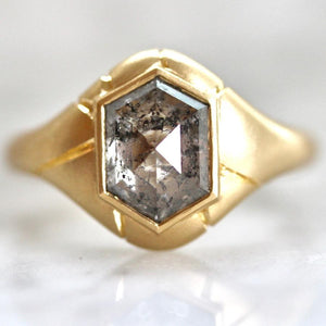Honey Jewelry Co Current Ring Size - 6 Ayn Hexy Diamond Ring