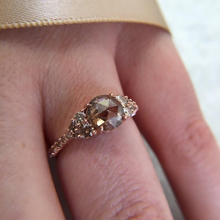 Honey Jewelry Co Honey Jewelry Champagne Pave Diamond Ring