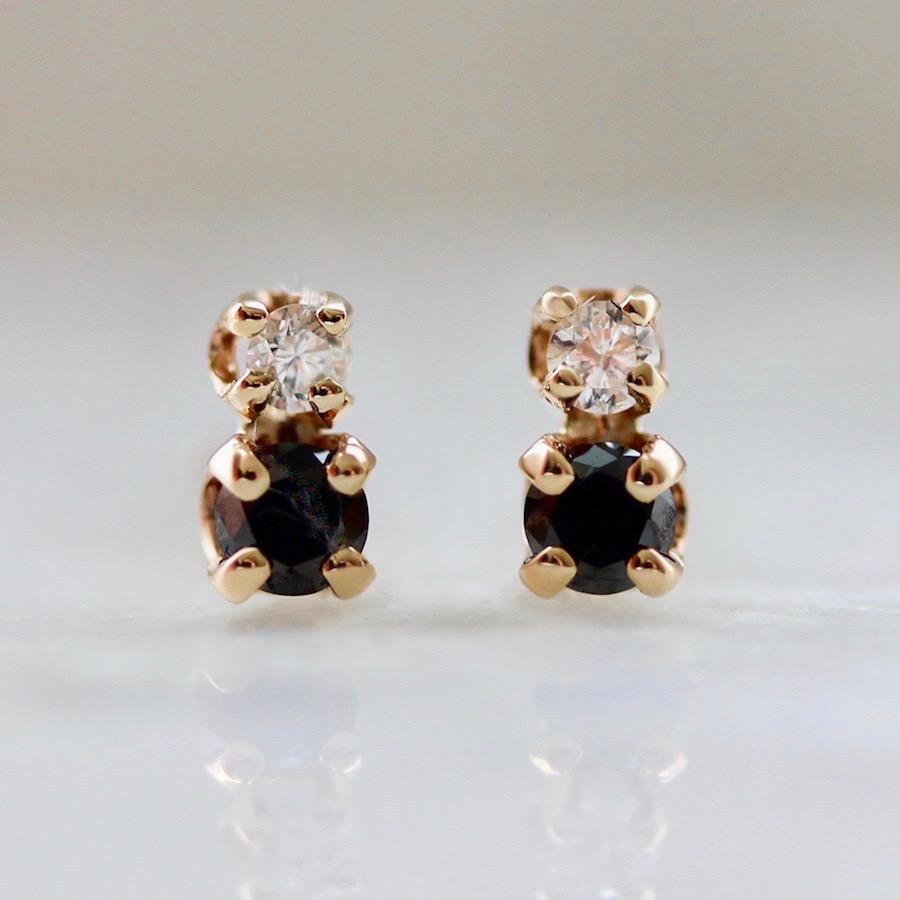 Hortense Earrings Tuxedo Black & White Diamond Earrings