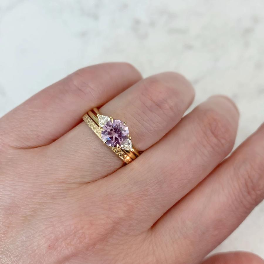 Lucia Purple Spinel and Diamond Ring
