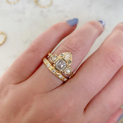 Galaxy Wide Diamond Gold Ring
