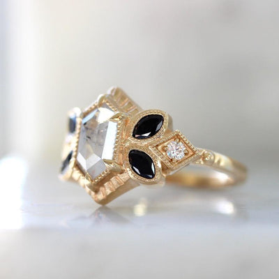 Jilian Maddin Ring Cloudbreaker Hexagon Cut Diamond Ring