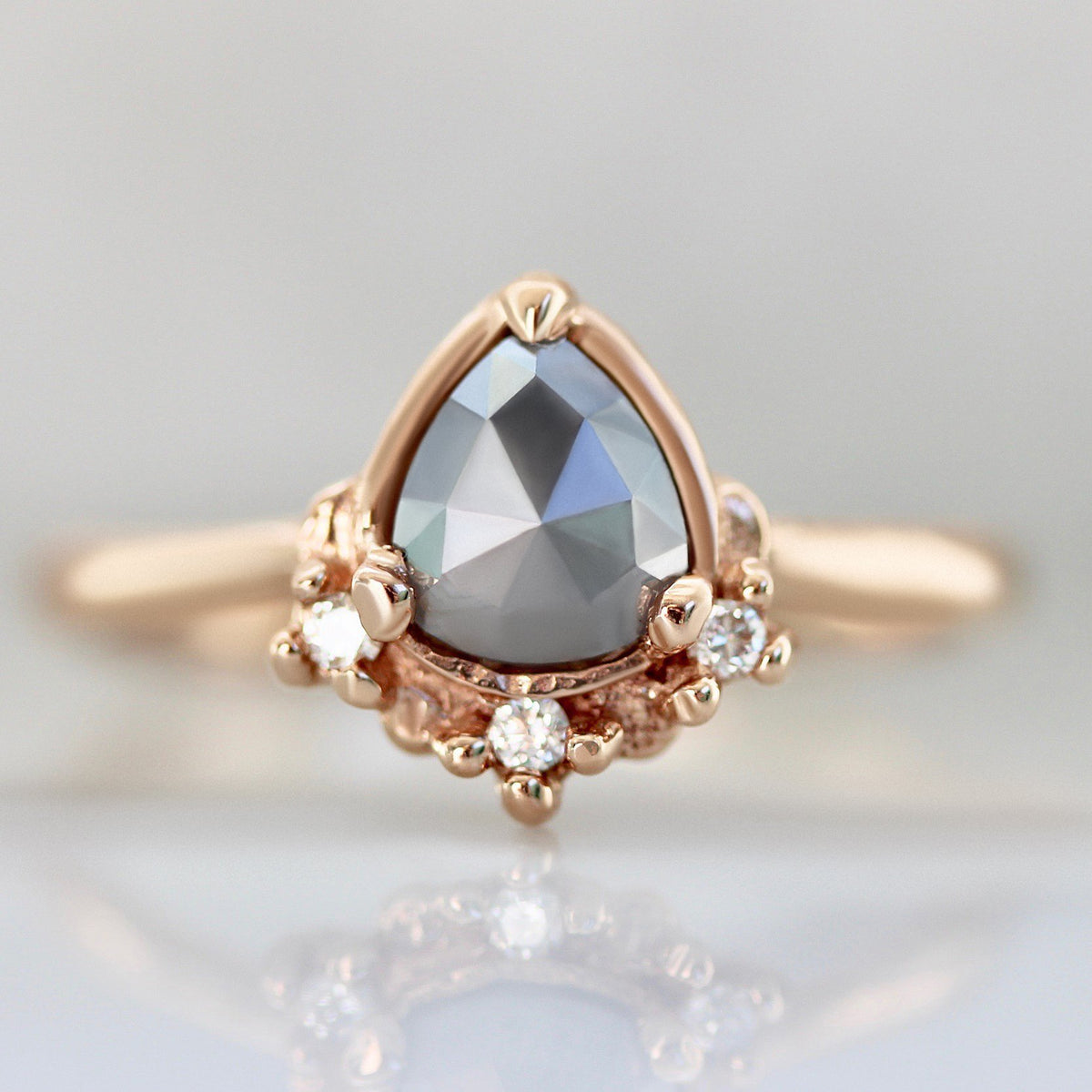 Lacee Alexandra Ring Little Crush Grey Rose Cut Diamond Ring