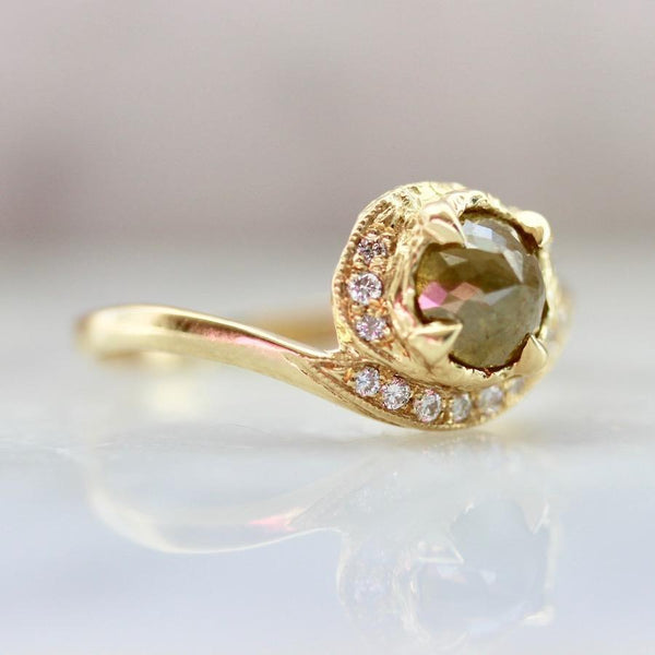 Lacee Alexandra Ring Yin Yang Rose Cut Diamond Ring