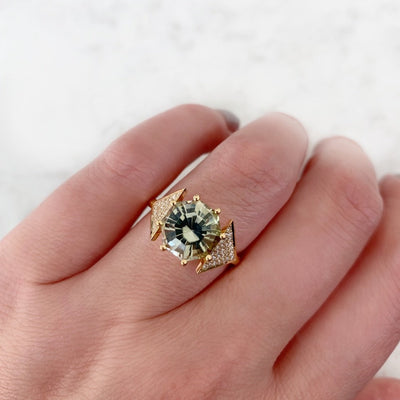 Larisa Lavins Ring Teagan Tourmaline and Diamond Ring