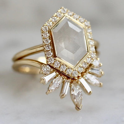 Maggi Simpkins Ring Current Ring Size  - 6.5 Astor Hexy Diamond Ring