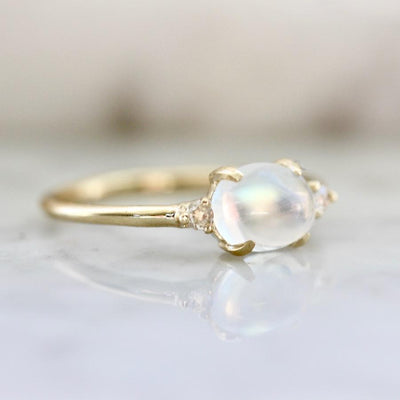 Mason Grace Moonstone Magic & Diamond Ring