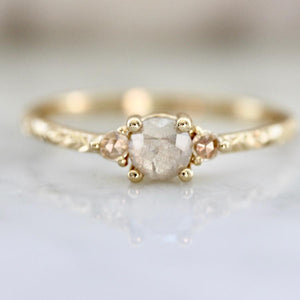 Mason Grace Piece Of Your Heart Rustic Rose Cut Diamond Ring