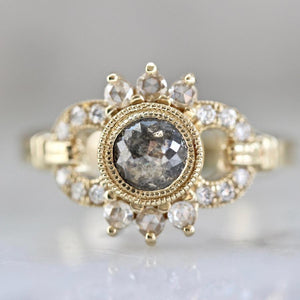 Mason Grace Ring Bianca Grey Rose Cut Diamond Ring