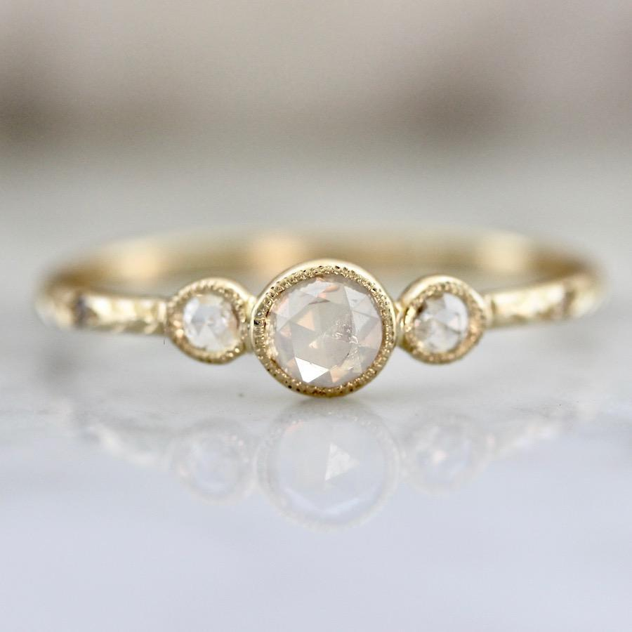Mason Grace Sloane Bezel Rose Cut Diamond Ring