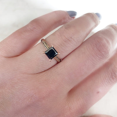 Nick Engel Ring Current Ring Size 6 Concord Princess Cut Black Diamond Ring