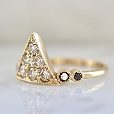 Nick Engel Ring On My Side Champagne Diamond Pyramid Ring