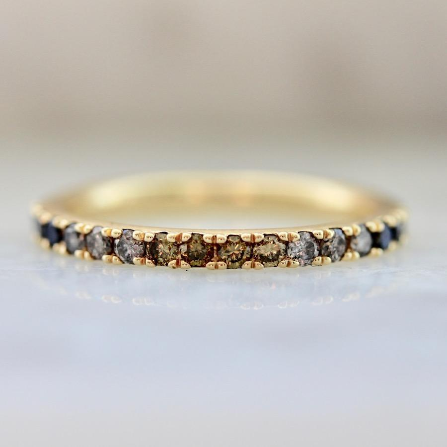 OctaHedron Ring Sweet Sunday Ombre Half Eternity Diamond Band