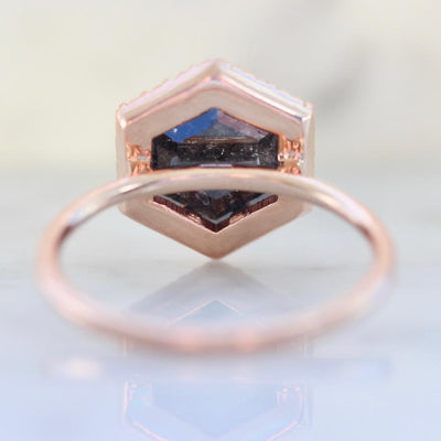 Point No Point Ring Current Ring Size 7.25 Miri Hexagon Rose Cut Diamond Ring
