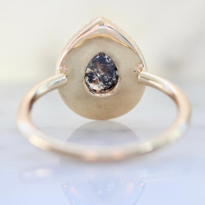 Point No Point Ring Current Ring Size 7.25 Retrograde Pear Rose Cut Diamond Ring