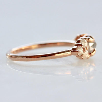 Point No Point Ring Grey Lady Rose Cut Diamond Ring