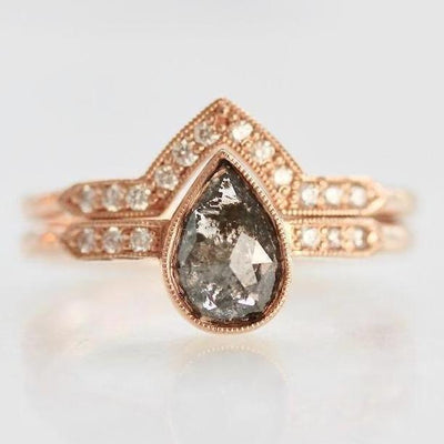 Point No Point Ring Gwen Pear Cut Diamond Ring