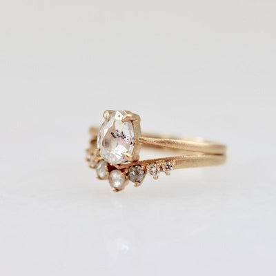 Point No Point Ring Kacy Rose Cut Diamond Ring Set by Point No Point