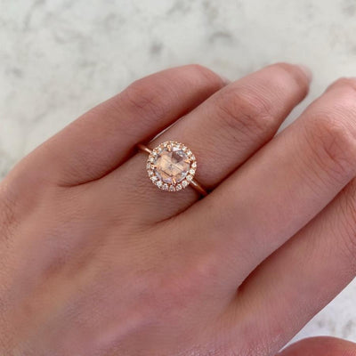 Point No Point Ring Lindy Rose Cut Diamond Ring