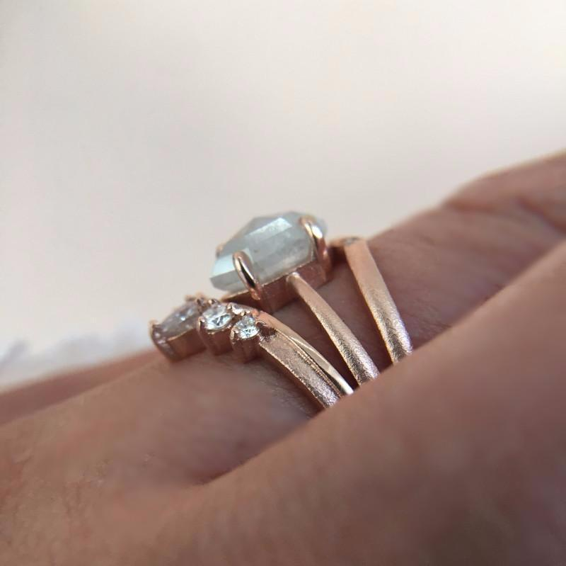 Point No Point Ring Point No Point Rose Gold Dream Stack