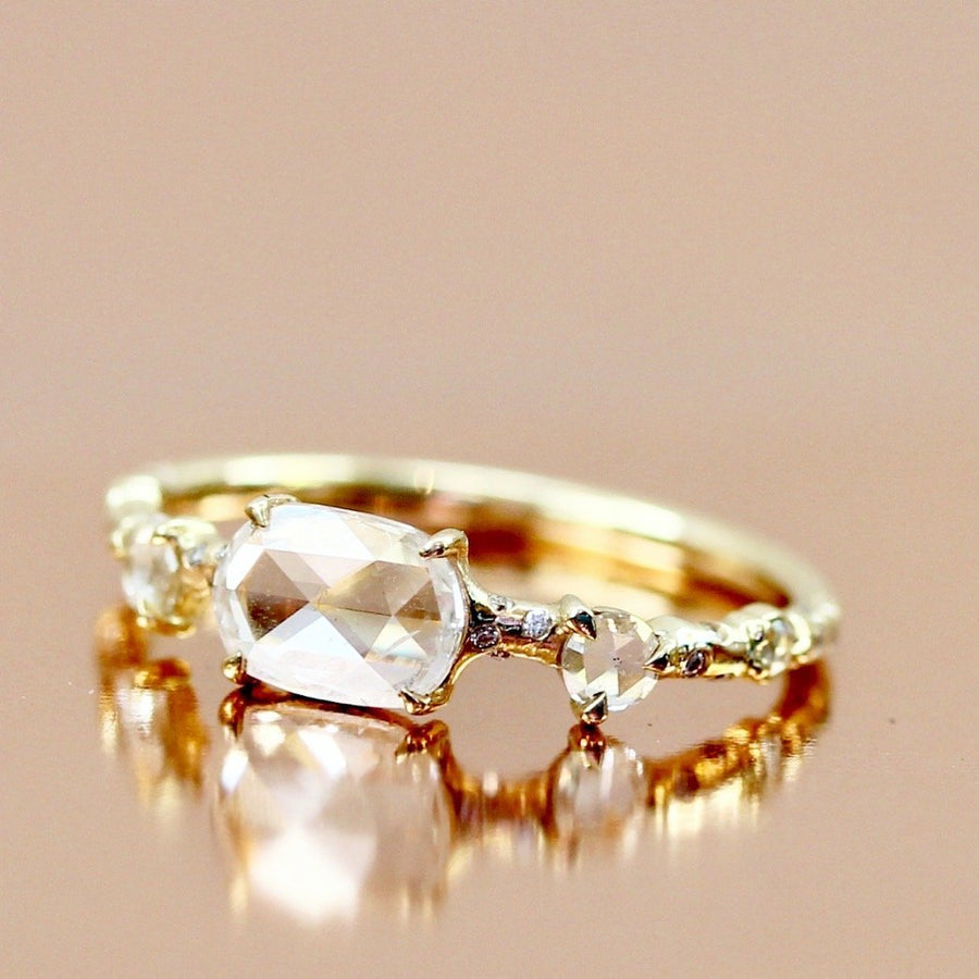 Rosey West Ring Rosey West Oval Cut Diamond Dew Drop Ring